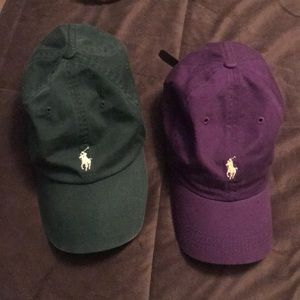 Polo leather strap hats x2